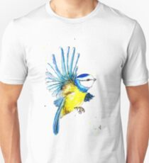 Watercolour Blue Tit  Unisex T-Shirt
