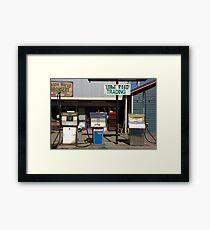 Petrol Pumps Framed Print