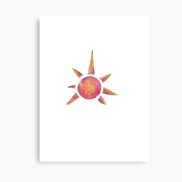 Giraffic Sun Canvas Print