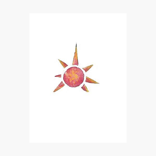 Giraffic Sun Photographic Print
