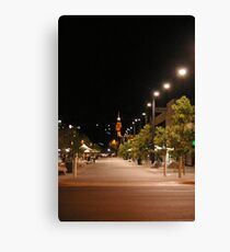 Hargreaves Street Mall by night Canvas Print