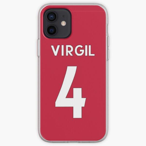 Camisa de Liverpool FC / Holland de Virgil Van Dijk Funda blanda para iPhone