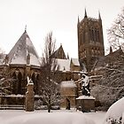 Lincoln Cathedral with snow blanket by SweetLemon