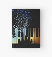 Hands Playing on Piano Keyboard Gift for Music Teacher Shirt Hardcover Journal