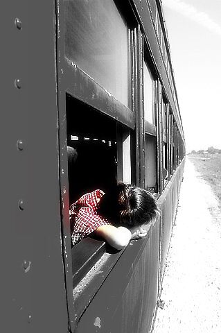 Boy on Train by Halcyonclaire