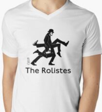 The Rolistes Podcast - Silly Walk (Mono) V-Neck T-Shirt