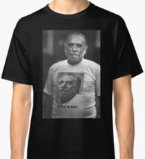 bukowski on bukowski halftone fan art by NICHEPRINTSNYC  Classic T-Shirt
