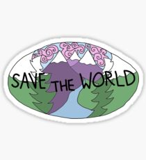 save the world Sticker