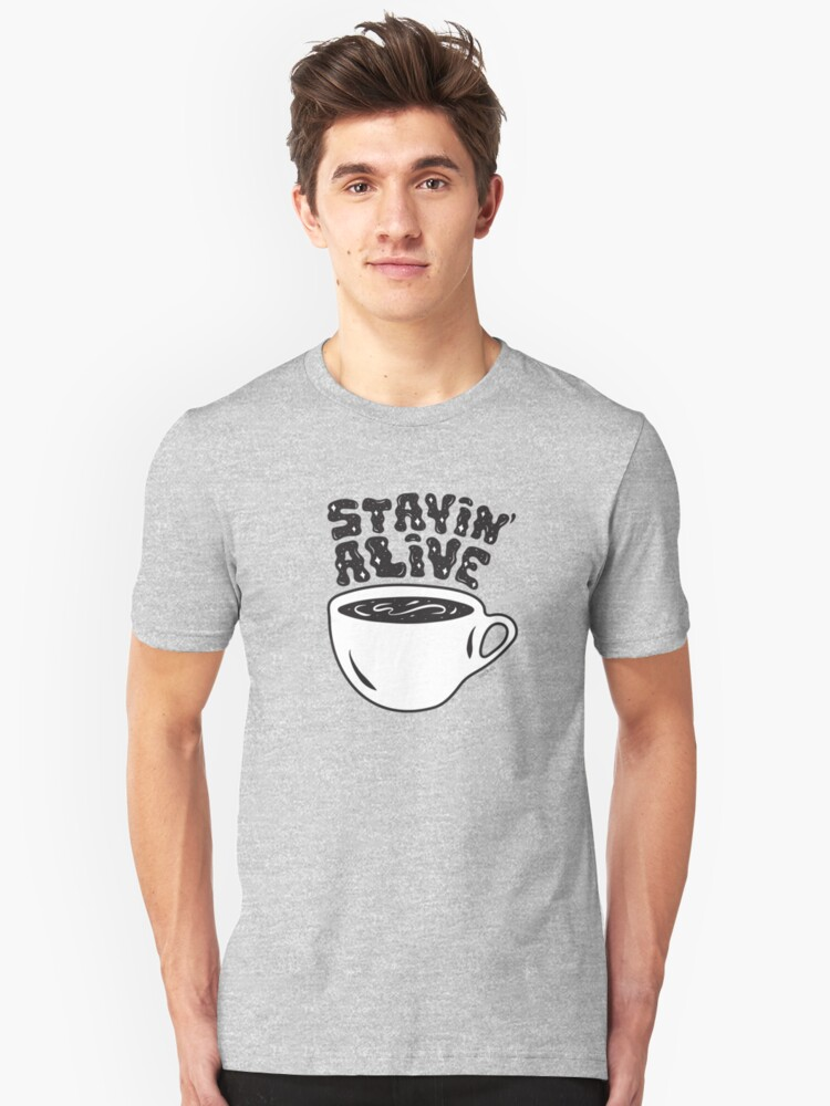 Alternate view of Stayin' Alive Slim Fit T-Shirt