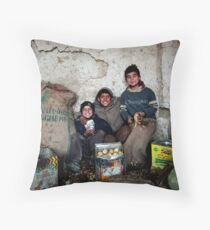 The Children of Heaven Exhibition - The Potato Chip Kids Throw Pillow
