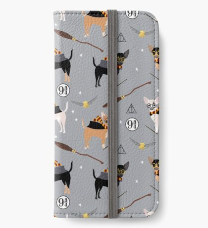 chihuahua witch wizard magical dog breed gifts iPhone Wallet