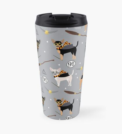 chihuahua witch wizard magical dog breed gifts Travel Mug