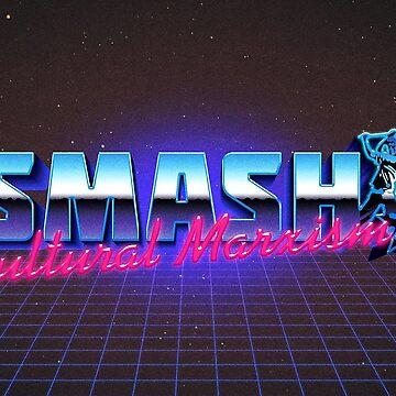 Smash Cultural Marxism - Fashwave - Vaporwave de ChanTees