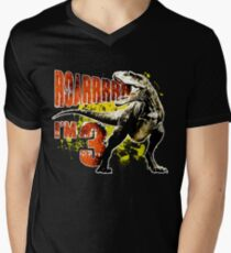 3rd Birthday Gift 3 Year Old Boys Dinosaurs Present Mens V Neck T