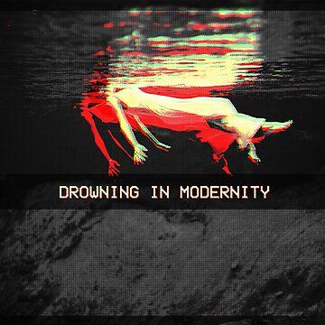 Ahogamiento en la modernidad - Vaporwave de ChanTees