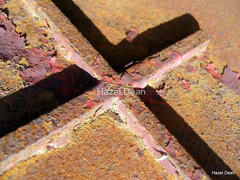Rusty Cross by Hazel Dean