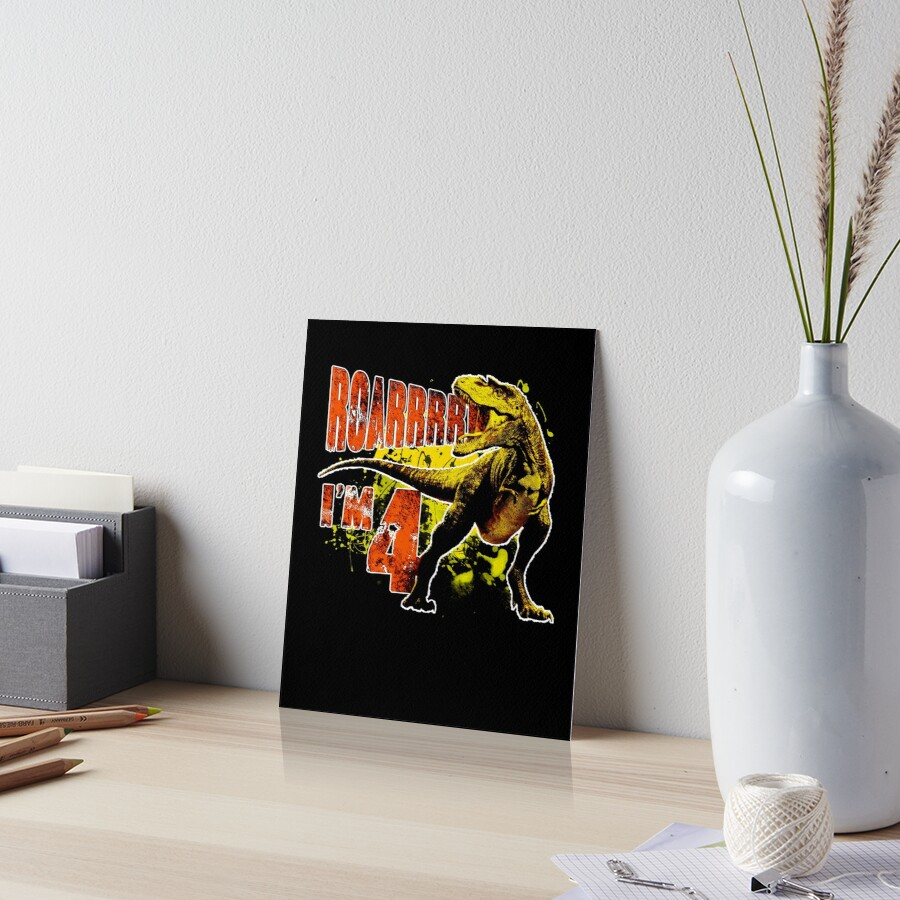4th Birthday Gift 4 Year Old Boys Dinosaurs Present By Modernmerch