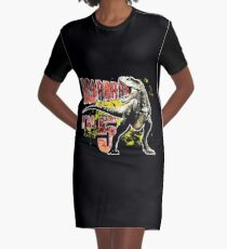 5th Birthday Gift 5 Year Old Boys Dinosaurs Present Graphic T Shirt Dress