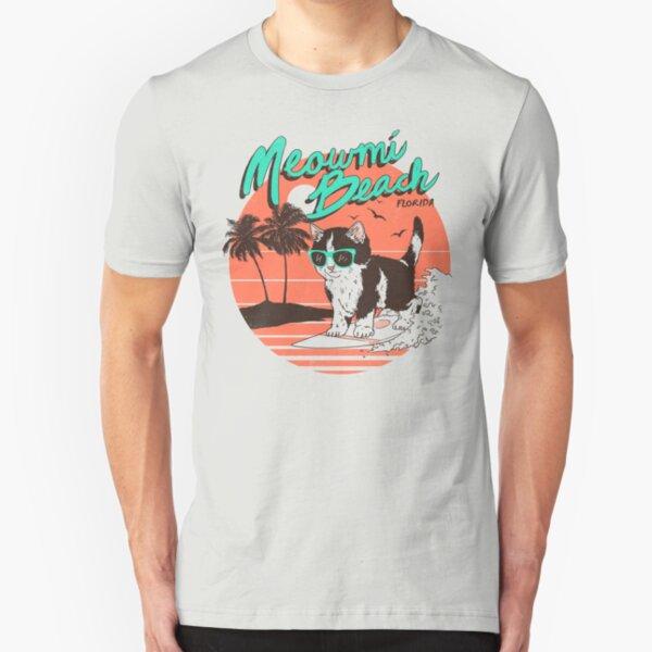 Meowmi Beach Slim Fit T-Shirt