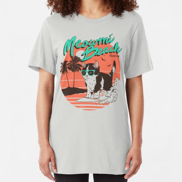Meowmi Beach Slim Fit T-Shirt