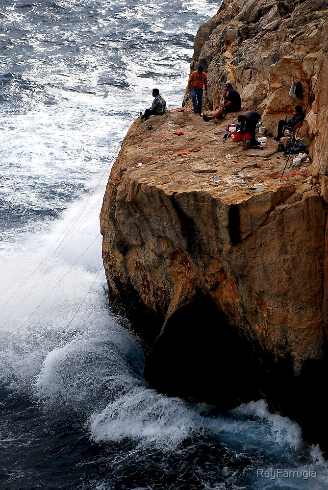 CLIFF FISHING by RayFarrugia