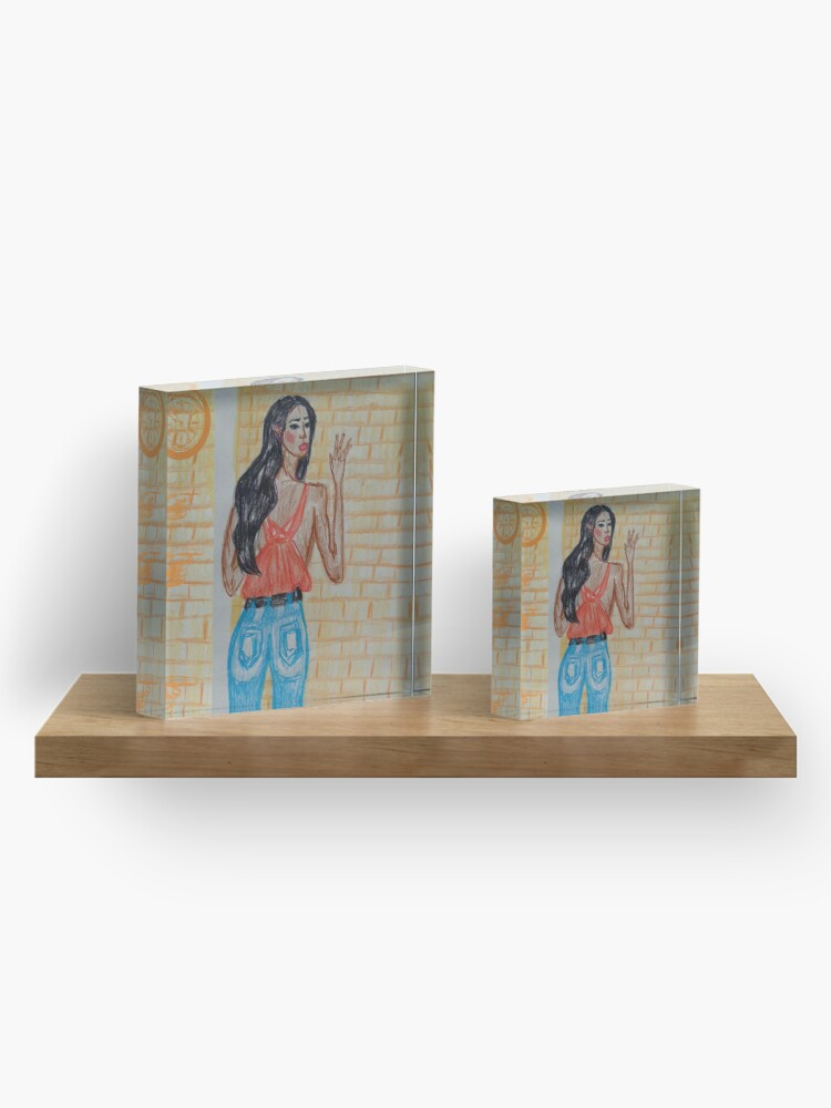 Alternate view of All you need is the right pair of jeans Acrylic Block
