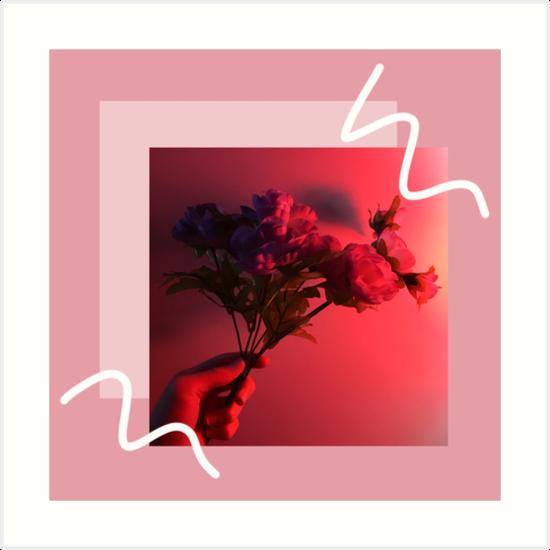 Neon Rose Tumblr Digitale Kunst Kunstdrucke Von Jakeparkerart