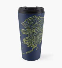 Alaska: Blue and Gold Travel Mug