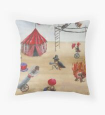 Flea Circus Throw Pillow