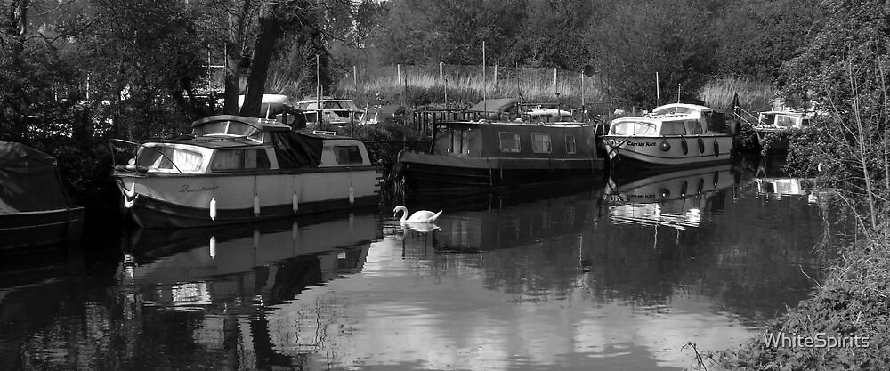 Boats on the Nene, Kinewell.  by WhiteSpirits