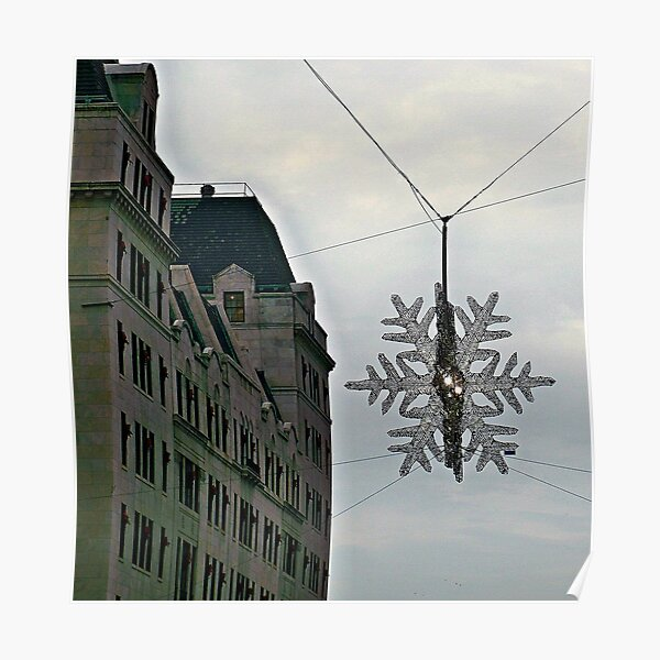 Fifth Avenue Snowflake Poster