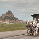 Mont Saint Michel & the Hippomobile by Michael Matthews