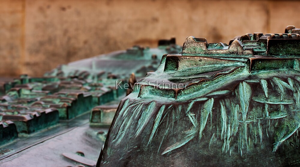 Edinburgh Castle and Princes Street In Miniature by Kevin Skinner