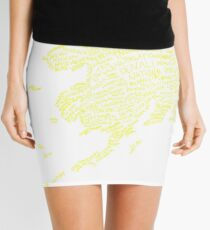 Alaska: Blue and Gold Mini Skirt