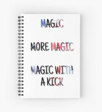 Magie, mehr Magie, Magie mit einem Kick Spiralblock