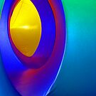 Inside a Luminarium of Turquoise and Yellow by Orla Cahill