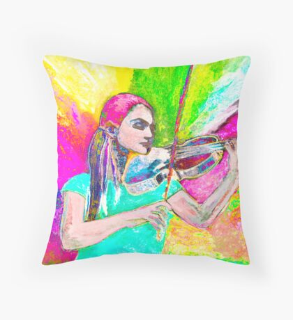 Dance me ( Dance me to your beauty with a burning violin) Throw Pillow