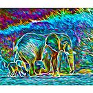 Rainbow Elephants by little1sandra