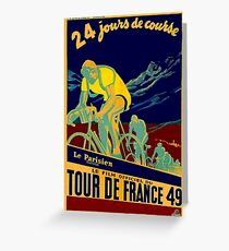 TOUR DE FRANCE; Vintage Bicycle Race Advertisment Greeting Card