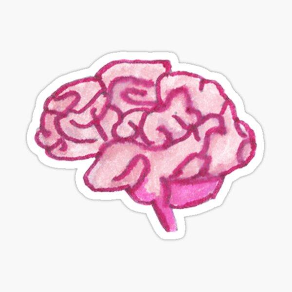 Doodle Brain Sticker Sticker