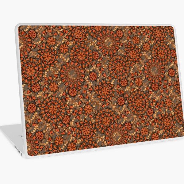 Mariposa Paisley B in Chocolate & Orange Laptop Skin