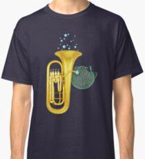 Puffer Fish Playing Tuba Classic T-Shirt