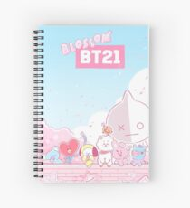 BT21 Spring Blossom Spiral Notebook