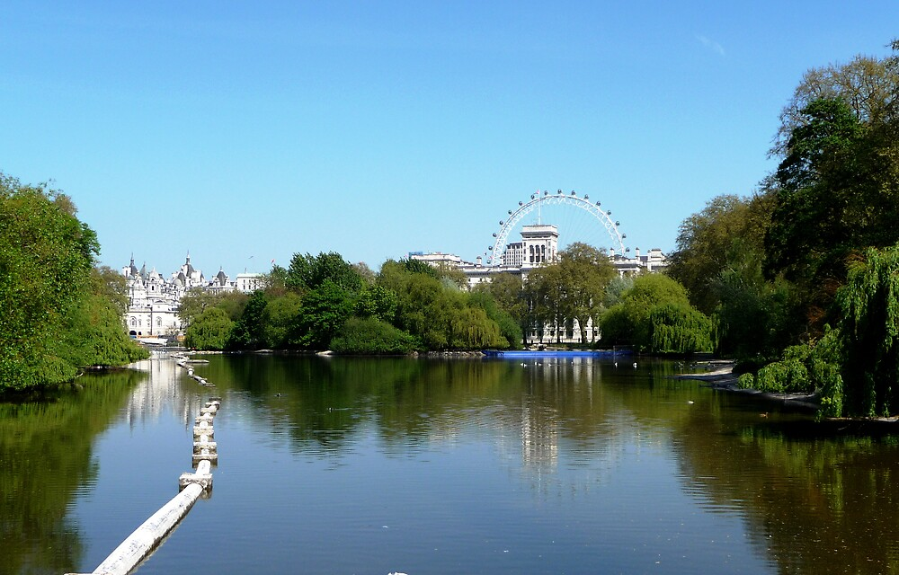 London Eye and the Palace by Braedene