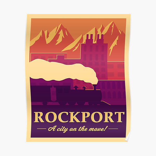 Rockport Travel Poster Poster
