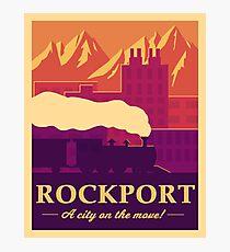 Rockport Travel Poster Photographic Print