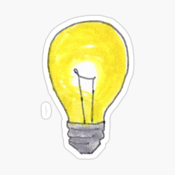 Doodled Light-bulb Sticker Sticker