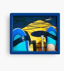 Kayak Attack Canvas Print