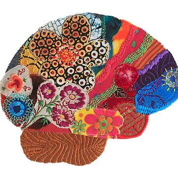 Spring Flowers Brain - Be Mindful by Laurabund