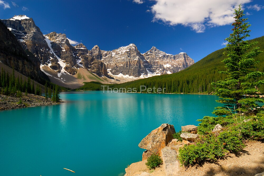 Morraine Lake by Thomas Peter